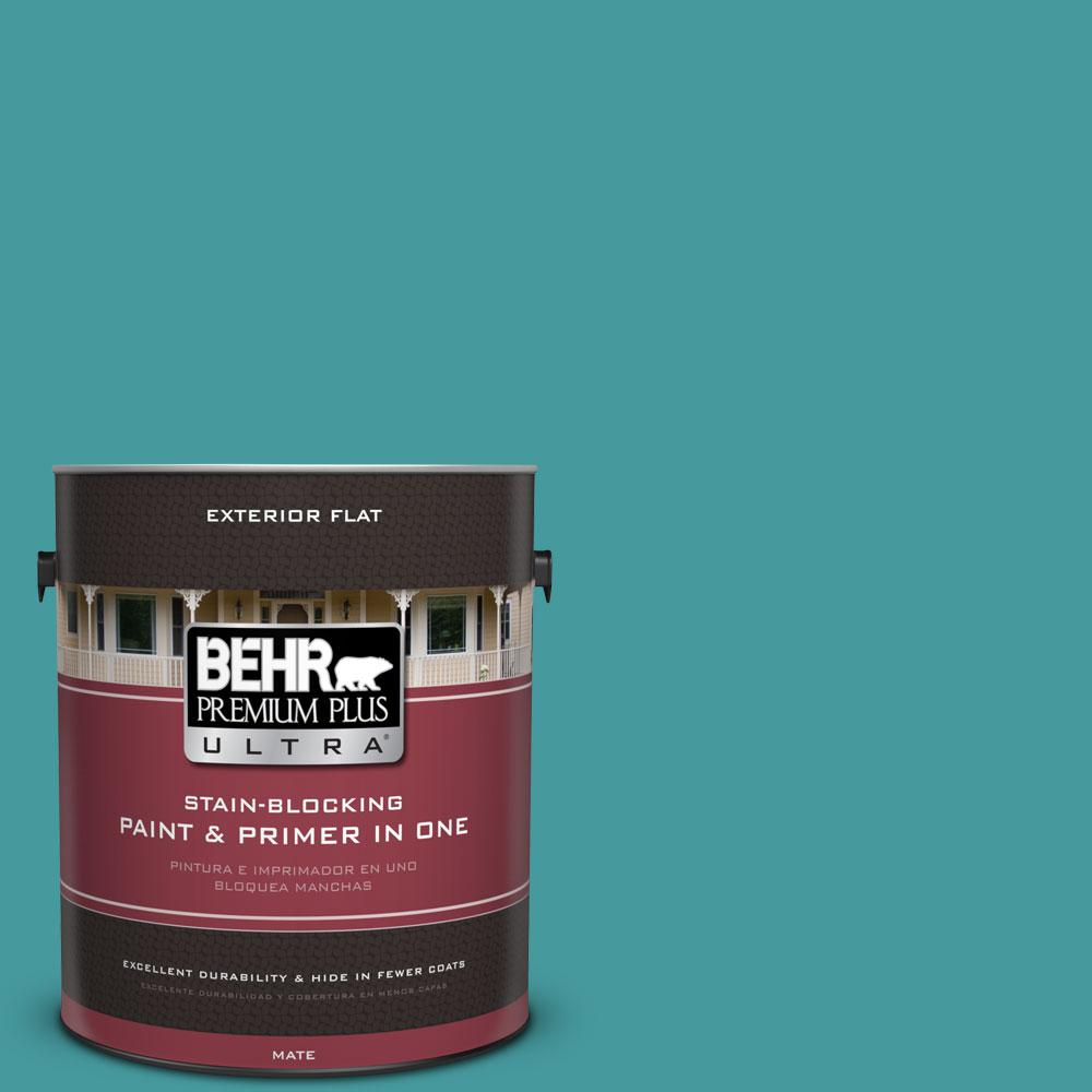 BEHR Premium Plus Ultra 1 gal. #510D-6 Aquatic Green Flat Exterior