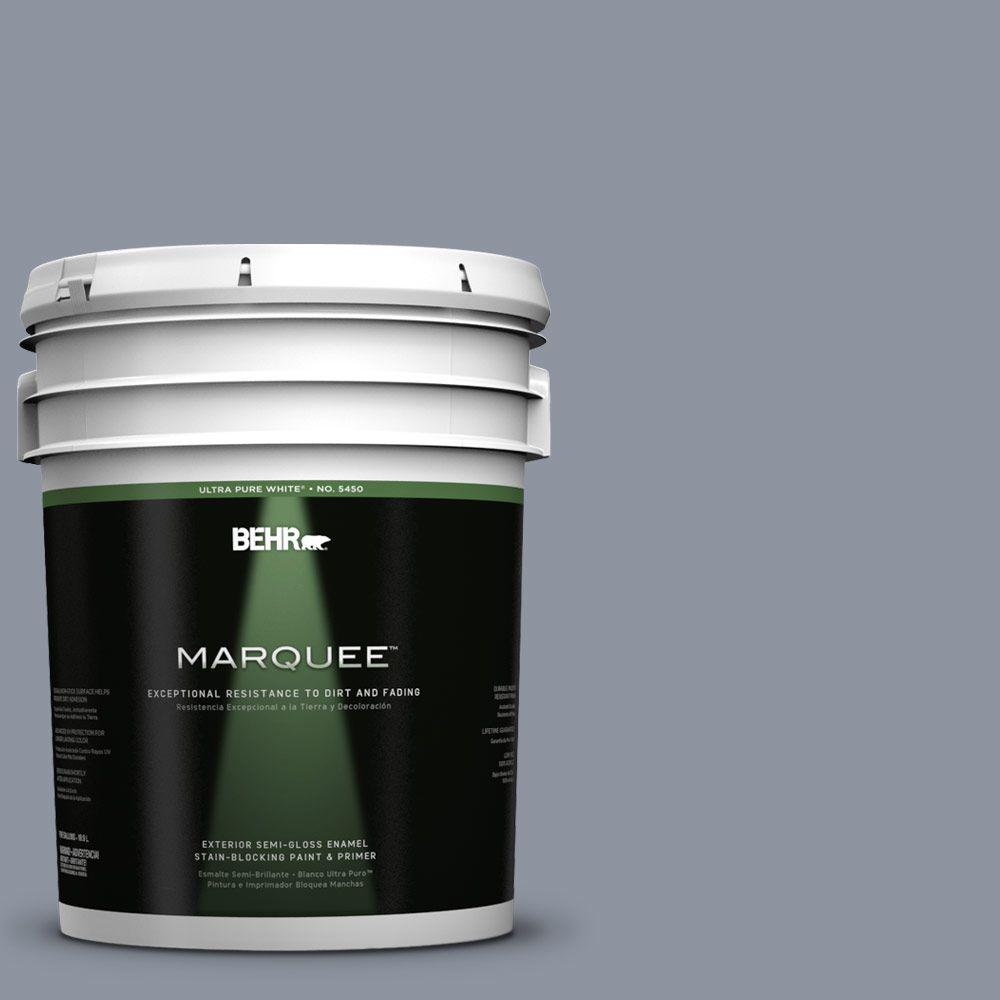BEHR MARQUEE 5-gal. #750F-4 Raging Sea Semi-Gloss Enamel Exterior Paint