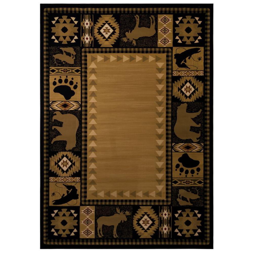 Balta US Northern Territory Black 6 ft. 6 in. x 9 ft. 6 in. Area Rug
