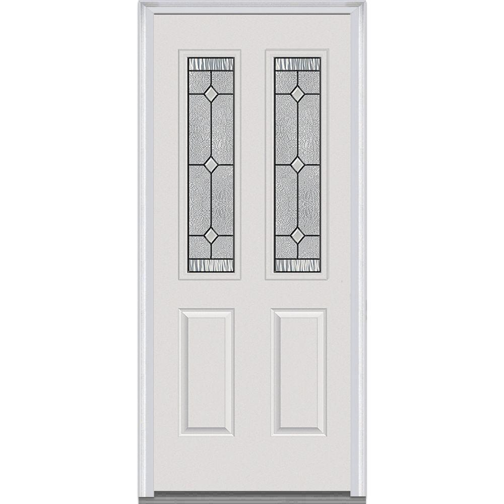 37.5 in. x 81.75 in. Carrollton Decorative Glass 2 Lite Painted