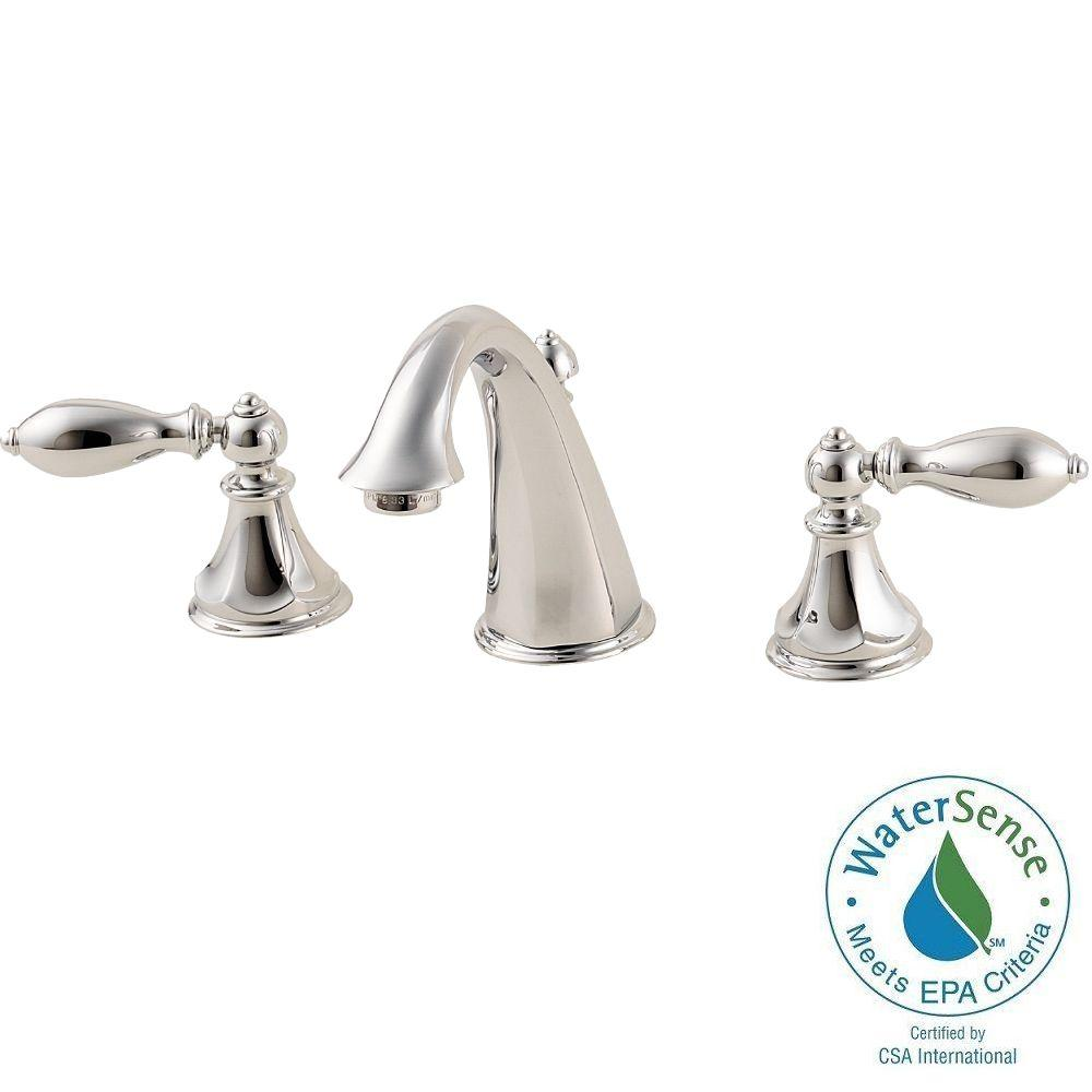 Pfister Catalina 8 in. Widespread 2-Handle High-Arc Bathroom Faucet in Polished Chrome