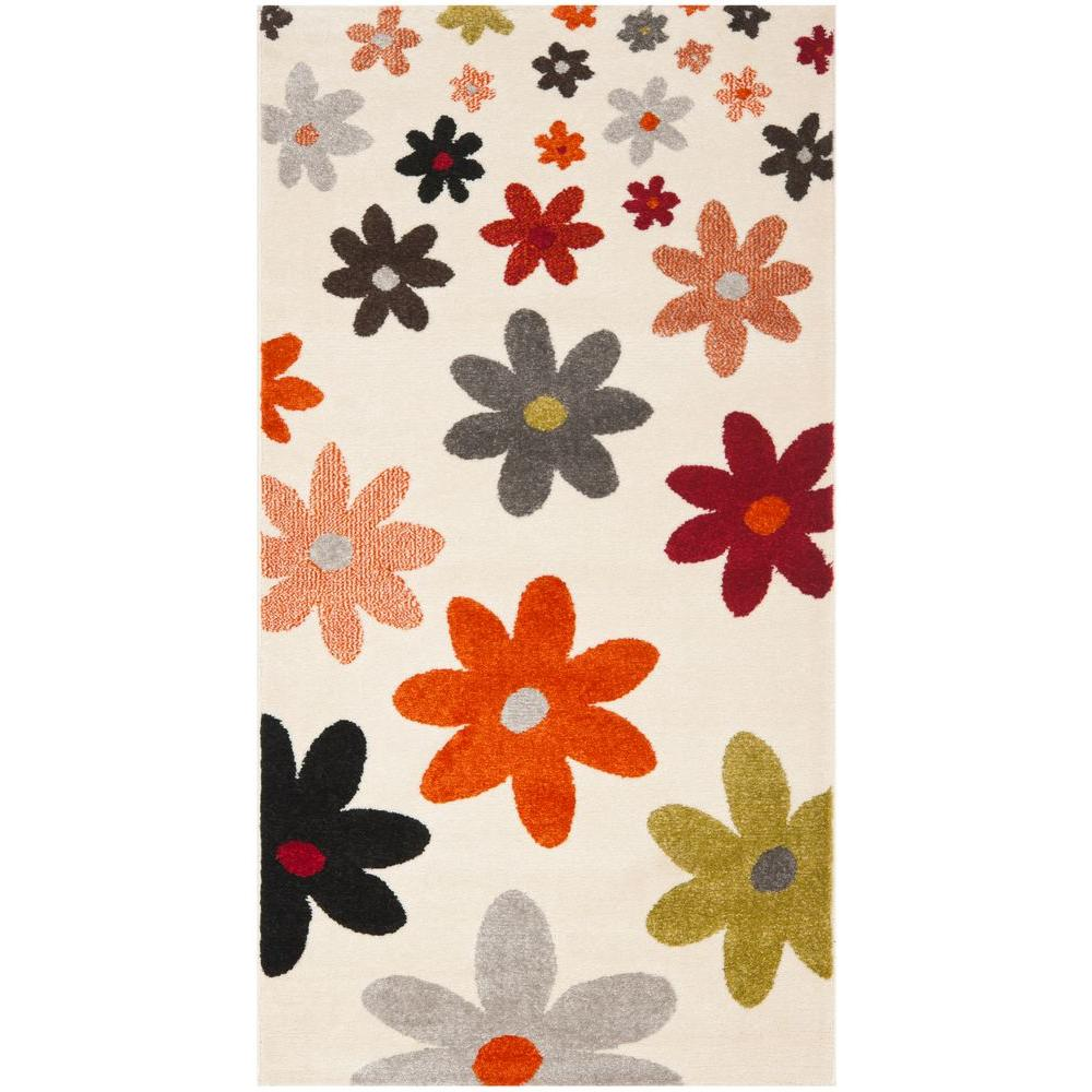 Porcello Ivory/Multi 2 ft. x 3 ft. 7 in. Area Rug