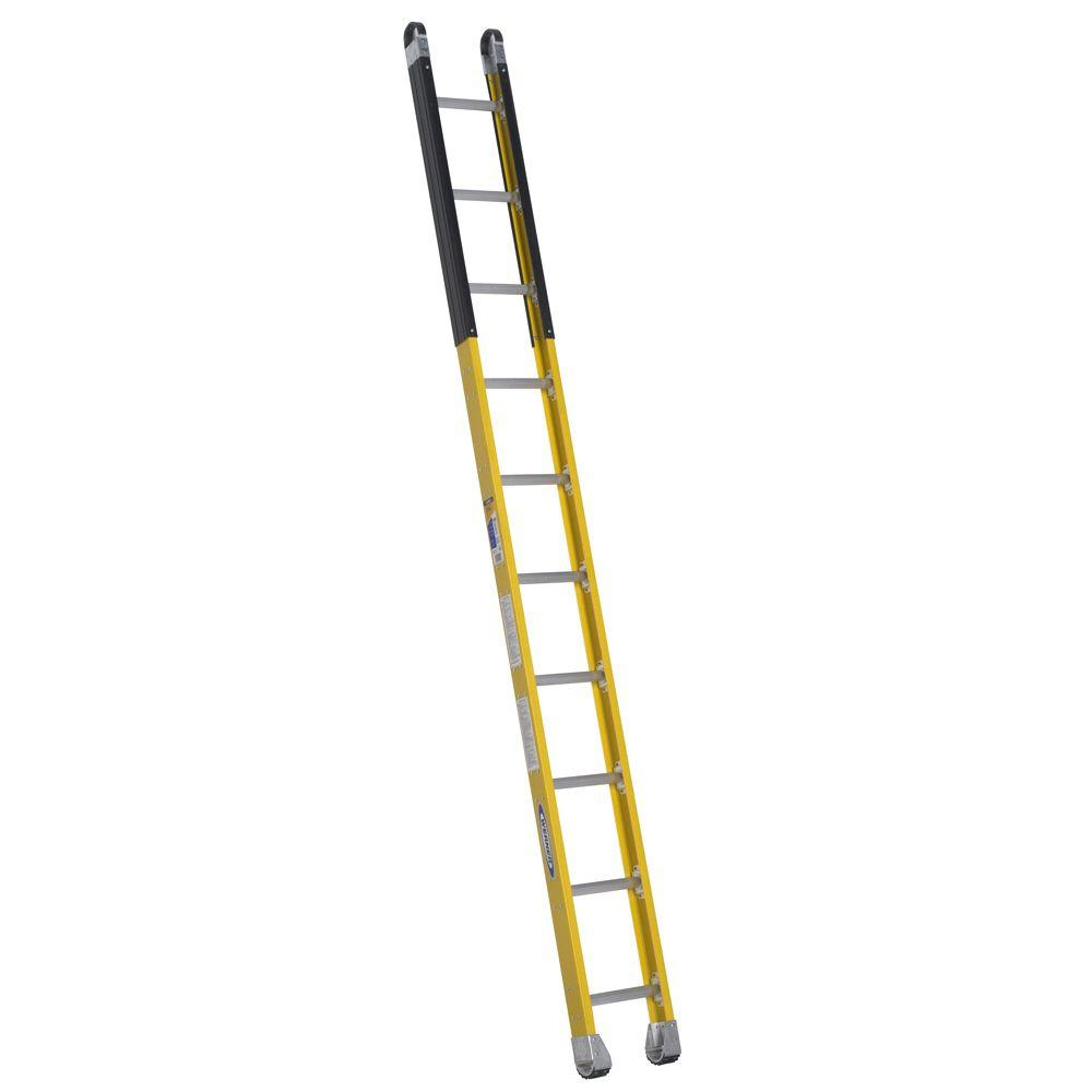 Werner 10 ft. Fiberglass Manhole Ladder with 375 lb. Load Capacity