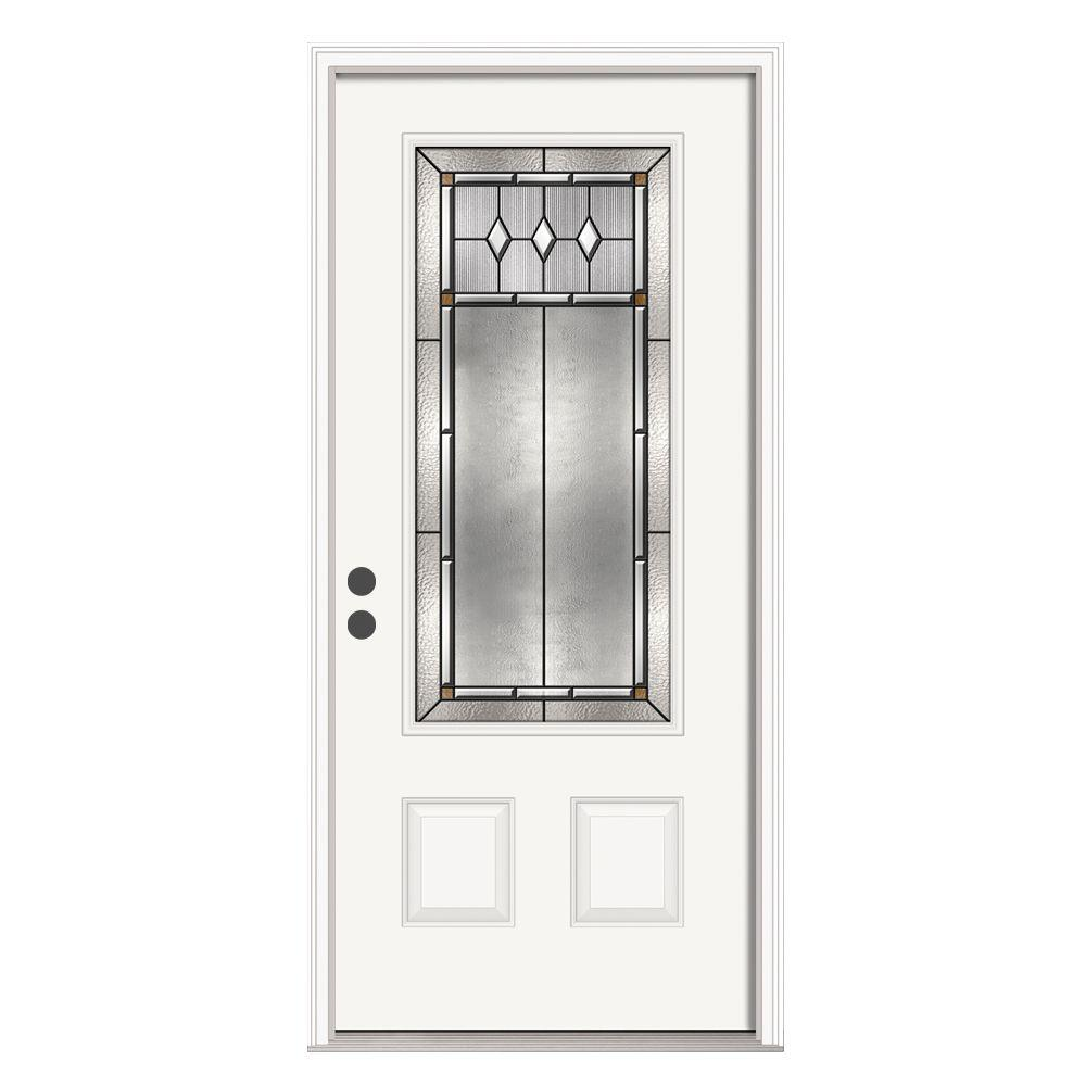 JELD-WEN 36 in. x 80 in. Mission Prairie 3/4 Lite Primed