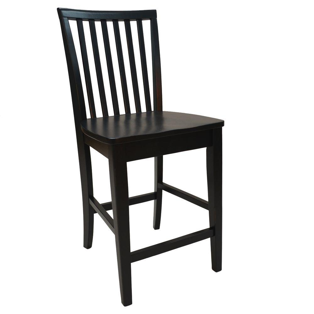 Carolina Cottage Hudson Counter Stool in Antique Black-265-24AB - The Home