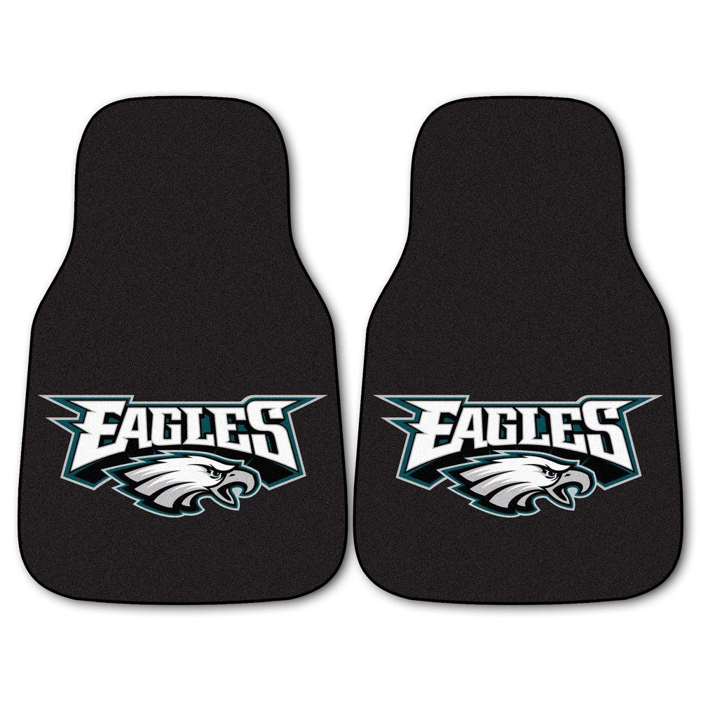 FANMATS Philadelphia Eagles 18 in. x 27 in. 2-Piece Carpeted Car