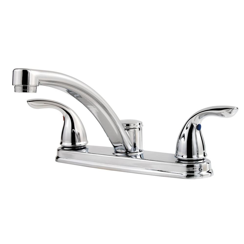 Upc 038877603710 Pfister Delton 2 Handle Kitchen Faucet In Polished Chrome Lf 035 3thc
