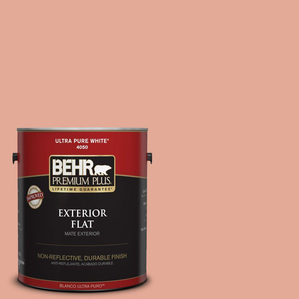 1-gal. #M190-4 California Coral Flat Exterior Paint