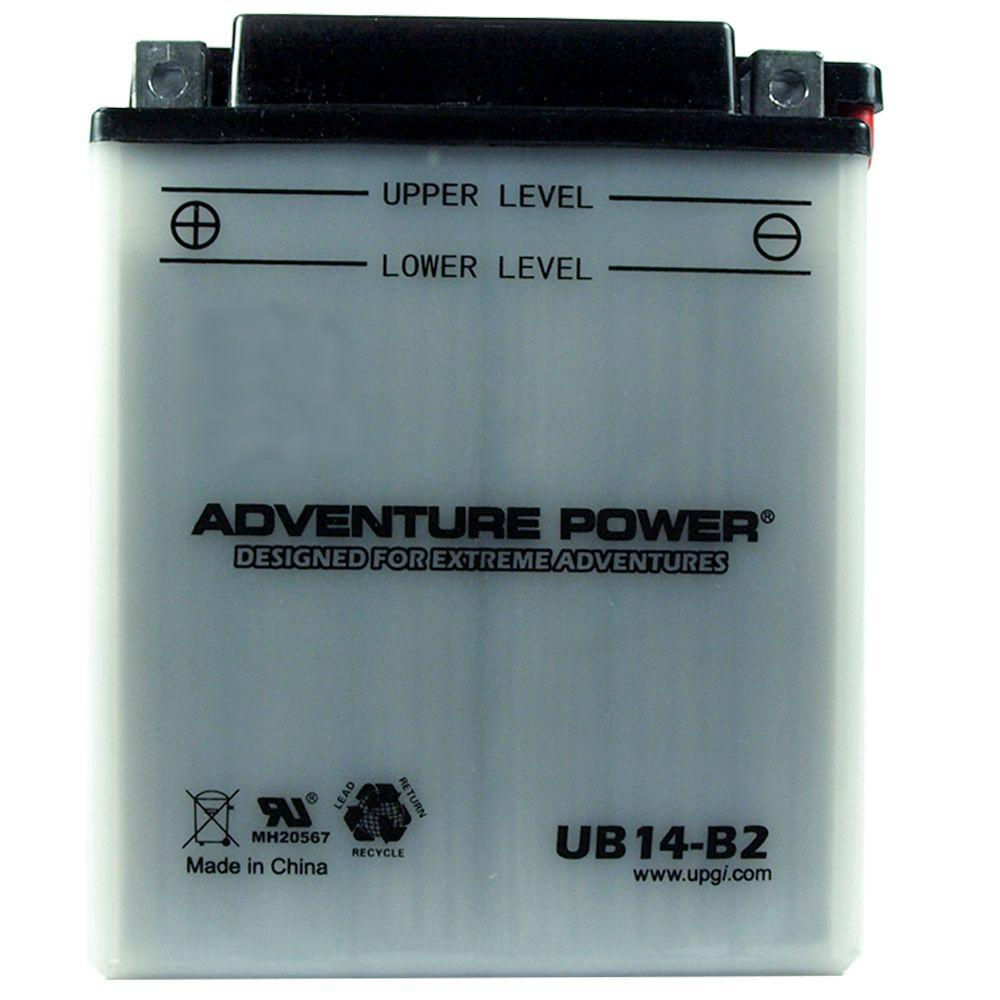 Conventional Wet Pack 12-Volt 14 Ah Capacity D Terminal Battery