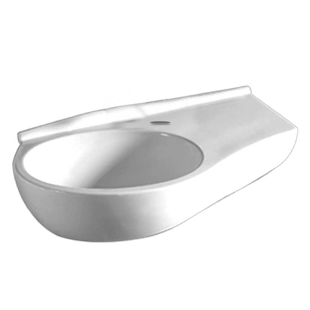 whitehaus bathroom sinks whitehaus collection wall mounted bathroom sink 15167