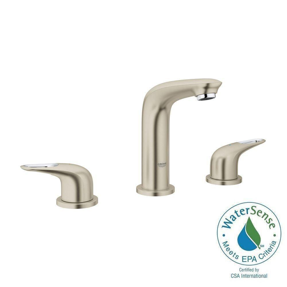 Eurostyle 8 in. Widespread 2-Handle Bathroom Faucet in Brushed Nickel
