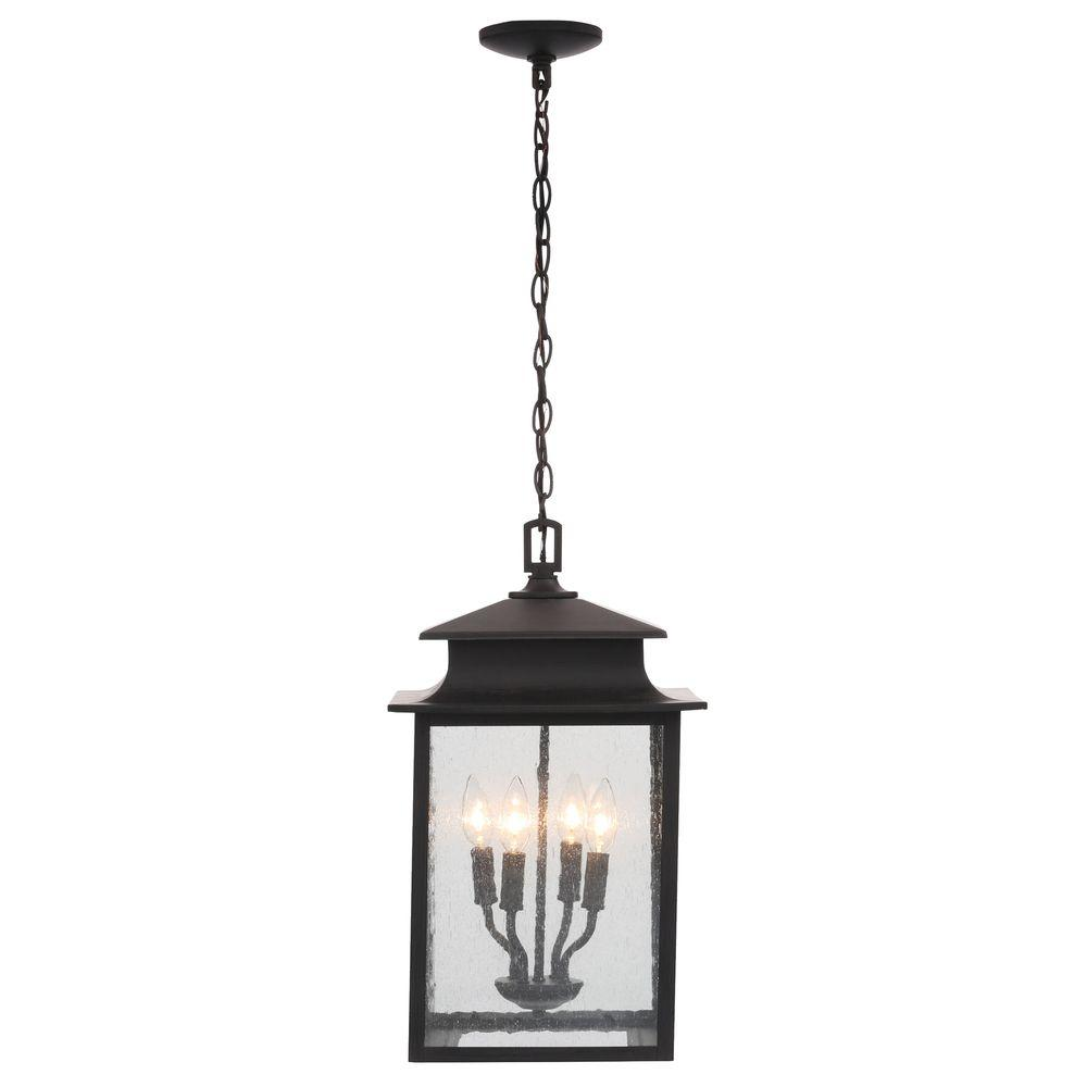 World Imports Sutton Collection 4-Light Rust Outdoor Hanging Lantern