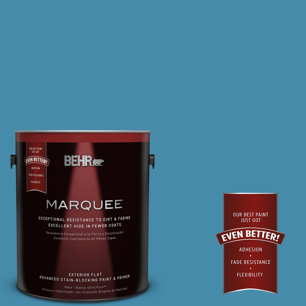 BEHR MARQUEE 1-gal. #550D-6 Blue Chaise Flat Exterior Paint
