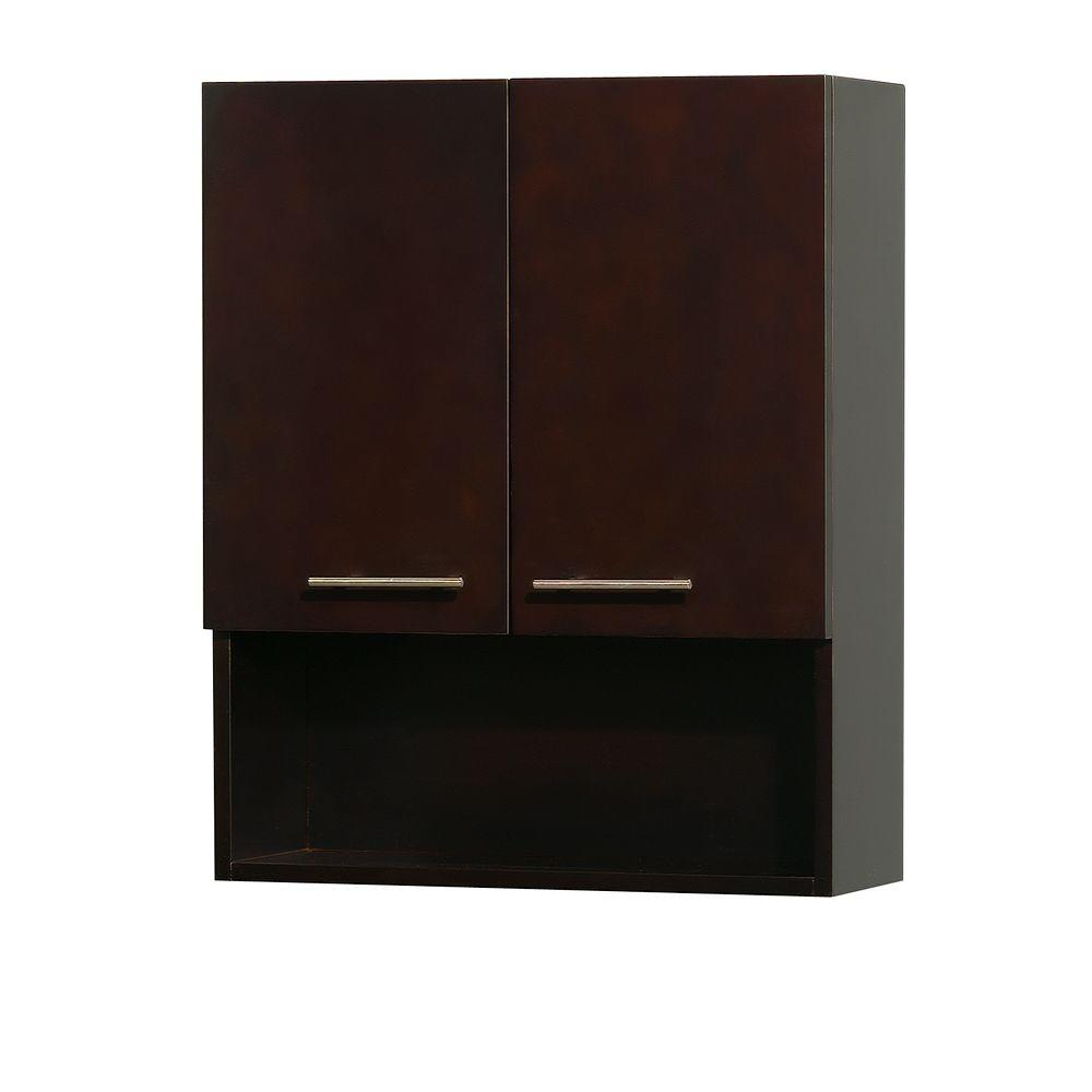 Wyndham Collection Centra 24 In W X 29 In H X 8 1 2 In D Bathroom Storage Wall Cabinet In