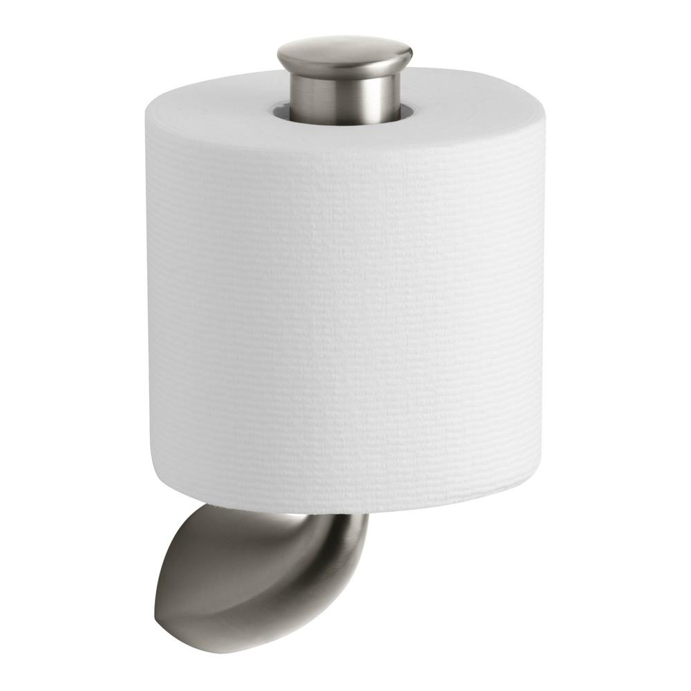 Alteo Single Post Toilet Paper Holder in Vibrant Brushed Nickel