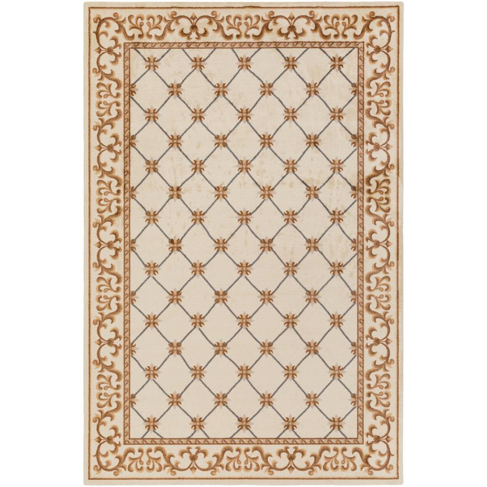 Madeline Alexis Ivory 4 ft. x 6 ft. Indoor Area Rug