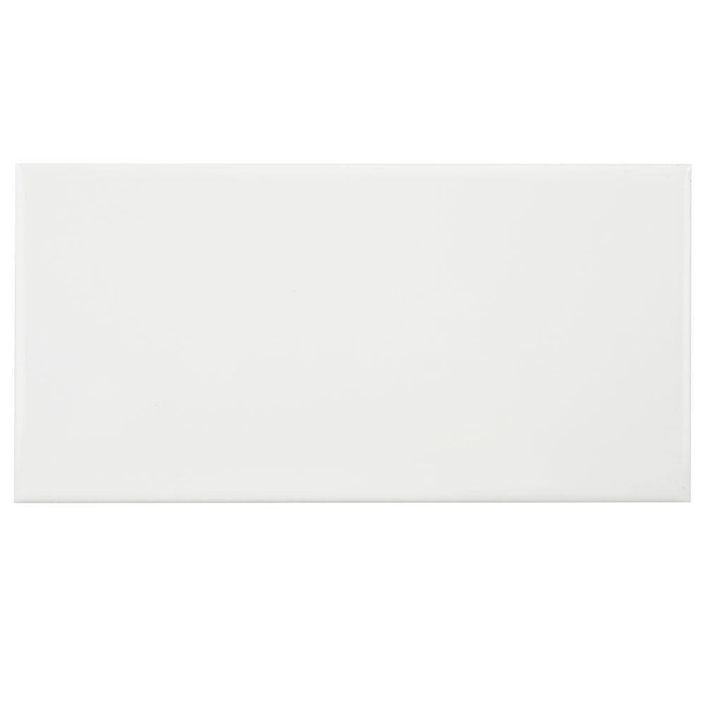 Merola Tile Park Slope Subway Glossy White 3 in. x 6 in. Ceramic Wall Tile (17 sq. ft. / case)