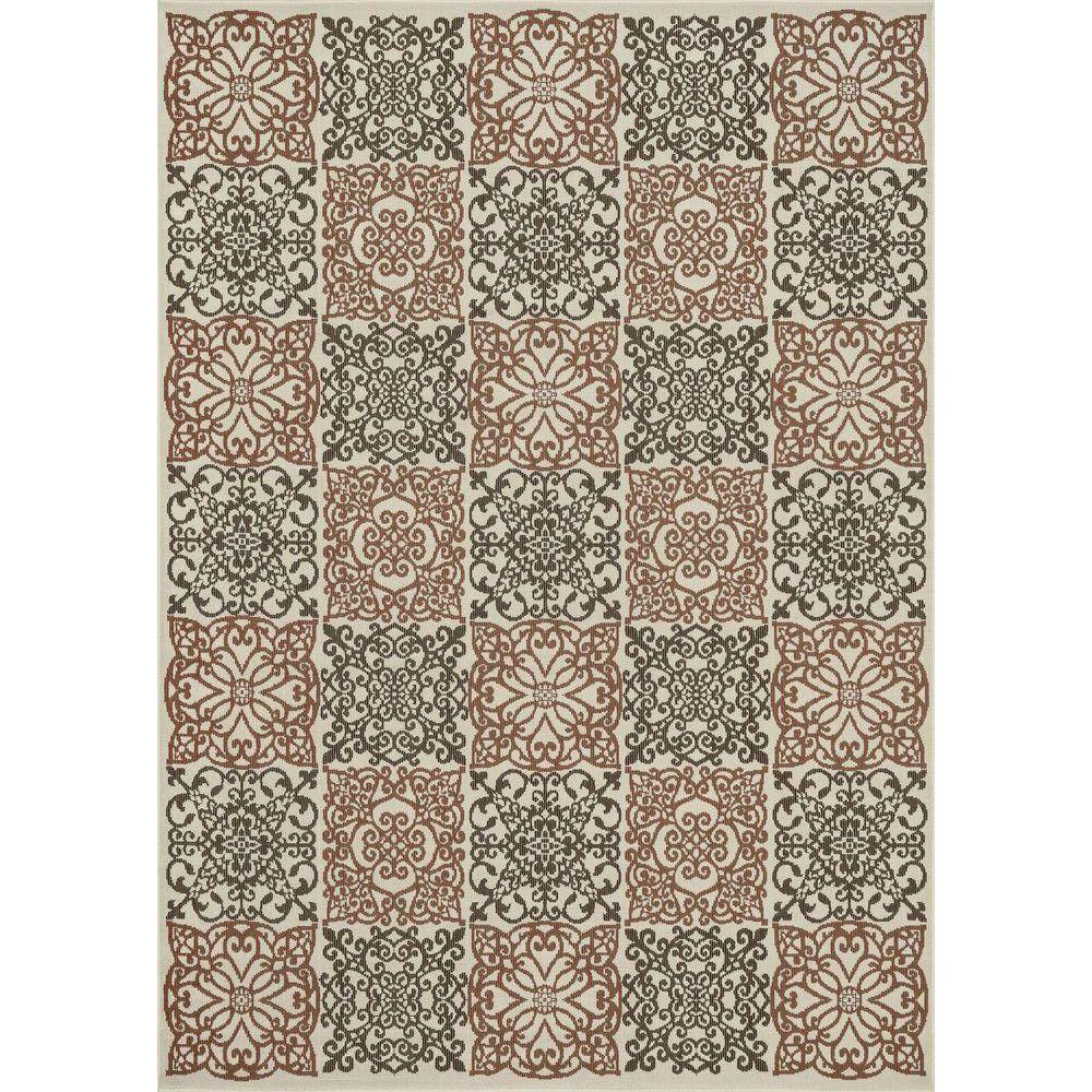 Loloi Rugs Augusta Lifestyle Collection Ivory Rust 7 ft. 10 in. x 10 ft. 9 in. Area Rug-DISCONTINUED