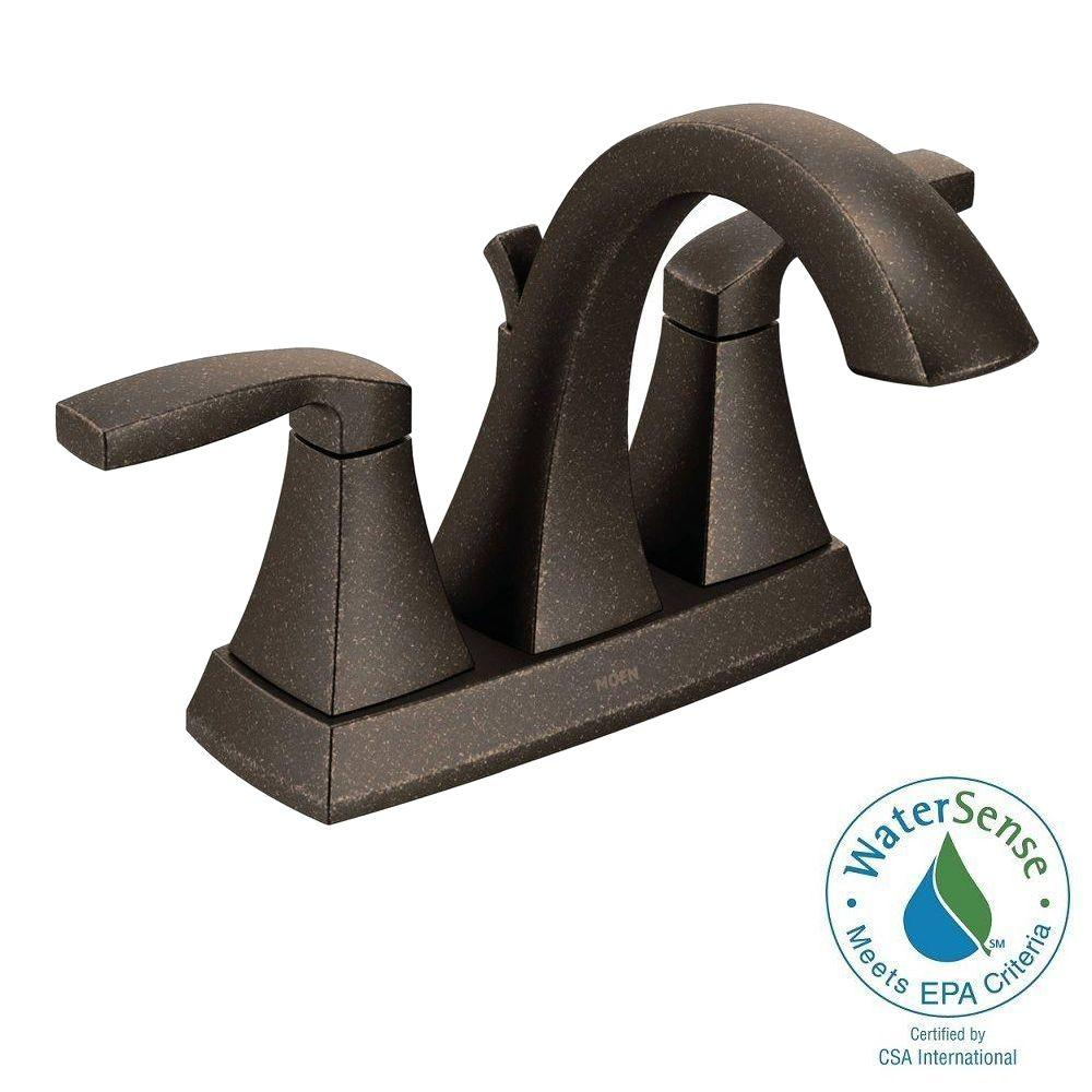 Voss 4 in. Centerset 2-Handle Bathroom Faucet in Oil Rubbed Bronze
