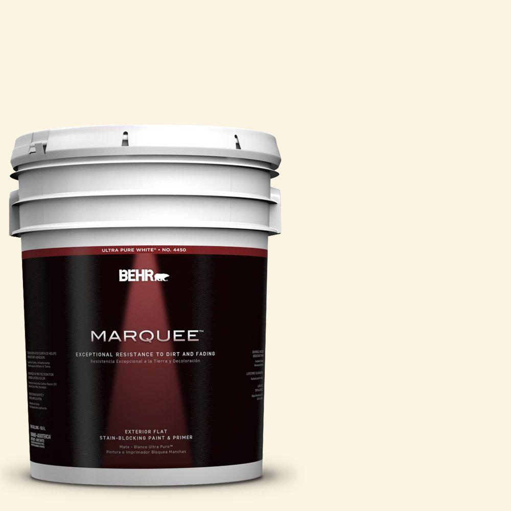 BEHR MARQUEE 5-gal. #350E-1 Moonlight White Flat Exterior Paint