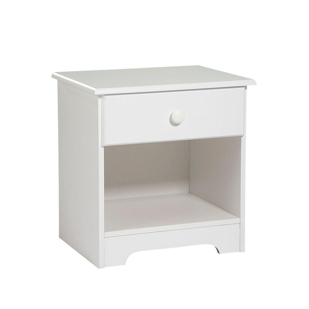 New Visions by Lane My Place, My Space White 1-Drawer Night Stand-DISCONTINUED