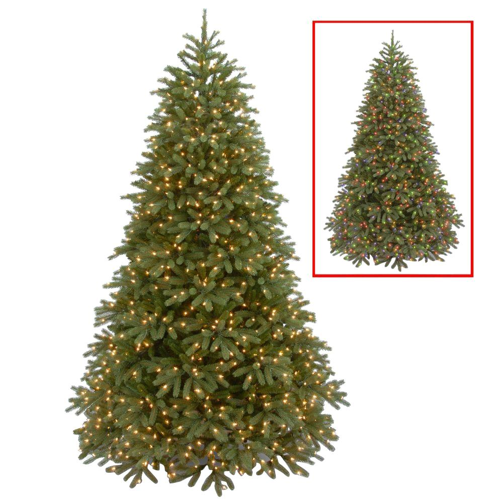 7.5 ft. Jersey Fraser Fir Medium Artificial Christmas Tree with Dual Color LED Lights, Greens