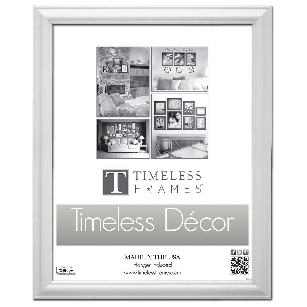 Timeless Frames Brenna 1-Opening 18 in. x 24 in. White Picture Frame