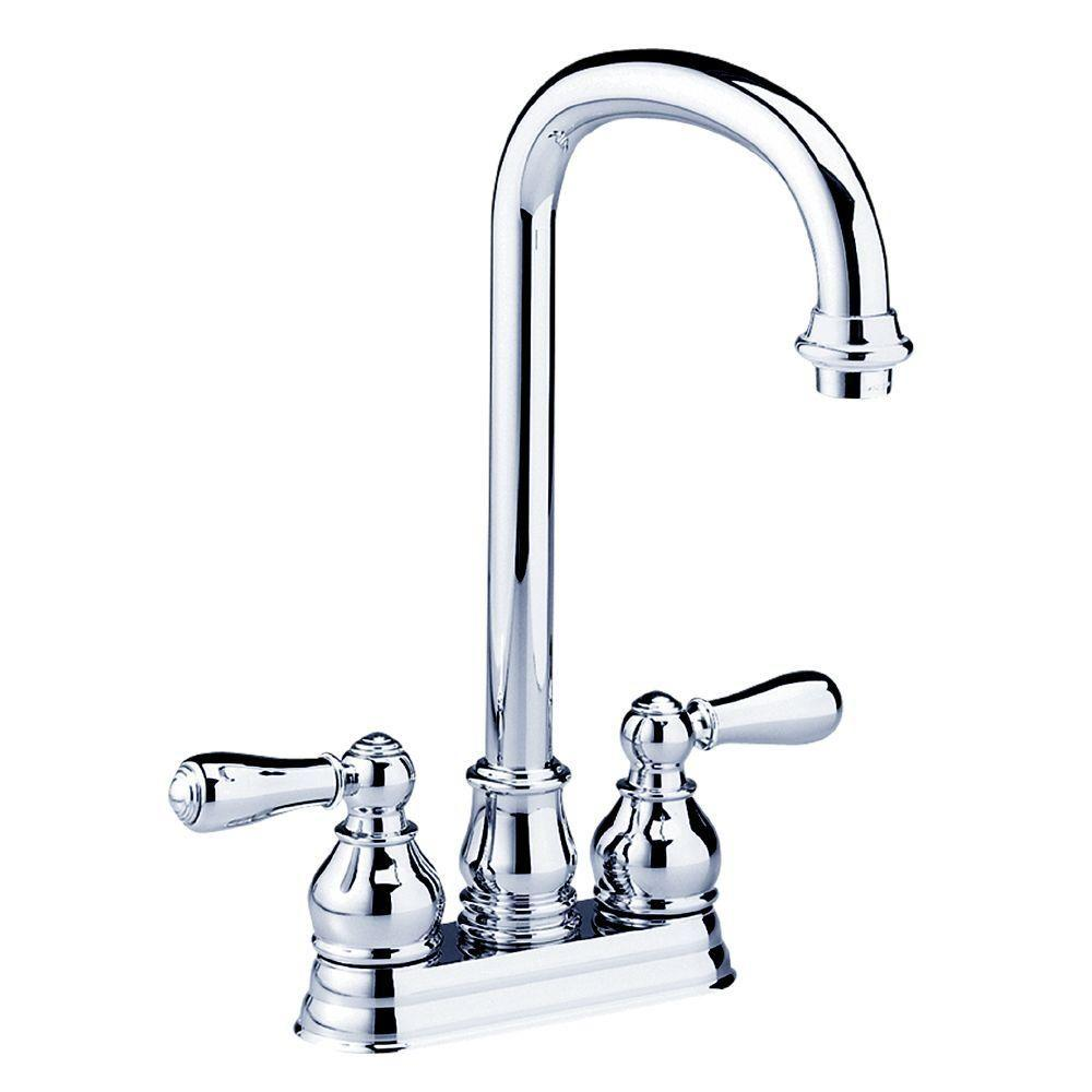 Hampton 2-Handle Bar Faucet in Polished Chrome