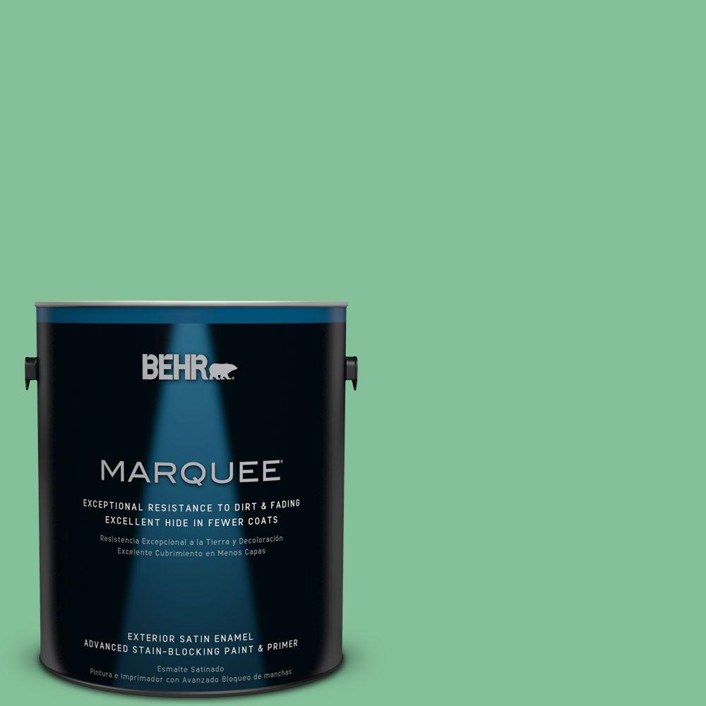 1-gal. #P410-4 Willow Hedge Satin Enamel Exterior Paint