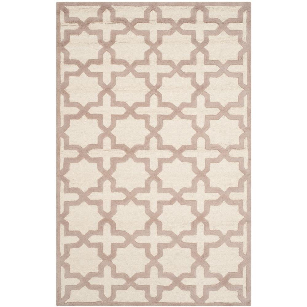 Safavieh Indoor/Outdoor Area Rug: Safavieh Rugs Cambridge Ivory/Beige 4 ft. x 6 ft., Ivory / Beige CAM125P-4