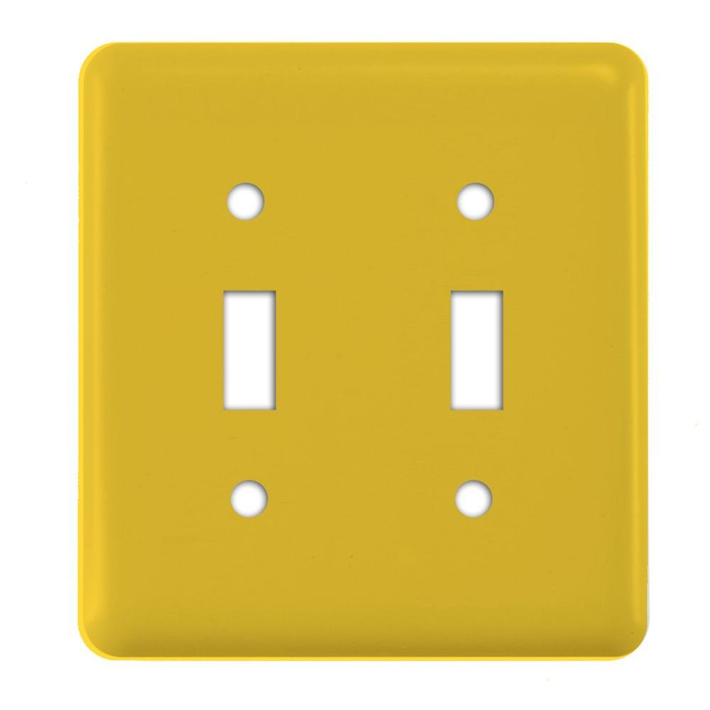 Amerelle Steel 2 Gang Toggle Wall Plate - Del Sol Yellow-940TTPK