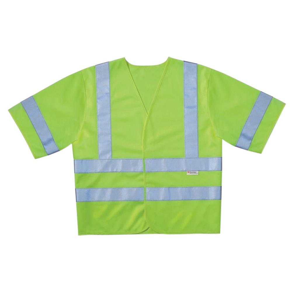 High-Visibility Yellow Class 3 Short Sleeve Safety Vest (Case of 5)