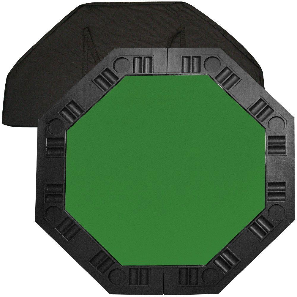 Trademark 8 player octagonal 48 in green felt table top for 10 player poker table top