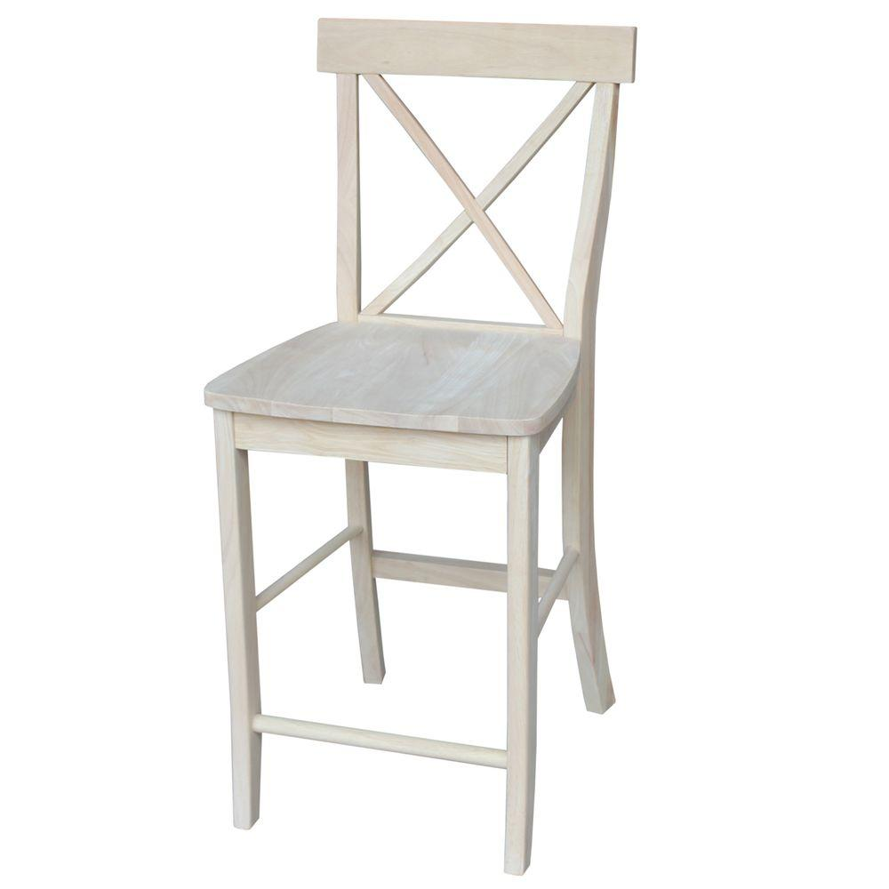 International Concepts 39.75 in. X-Back Stool-S-6132 - The Home Depot
