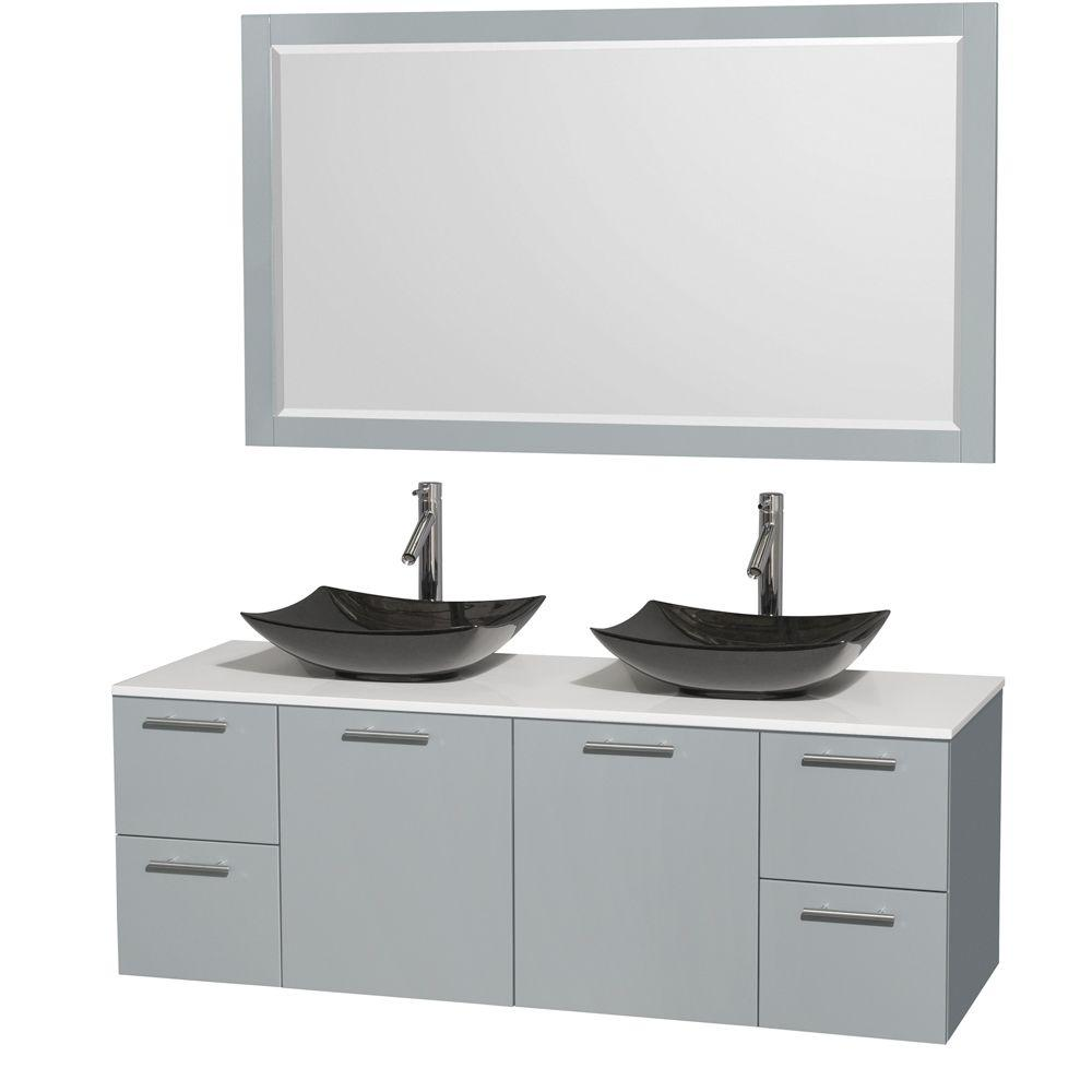 Wyndham Collection Amare 60 in. W x 22.25 in. D Vanity