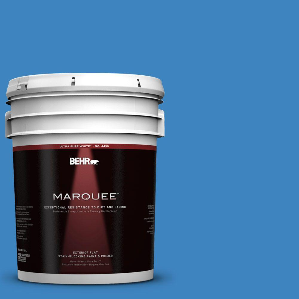 BEHR MARQUEE 5-gal. #560B-6 Warm Spring Flat Exterior Paint-445305 - The