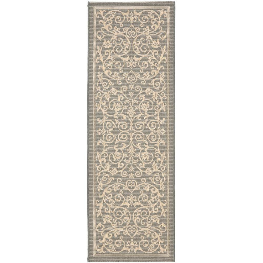 Safavieh Courtyard Gray/Natural 2 ft. 3 in. x 6 ft. 7