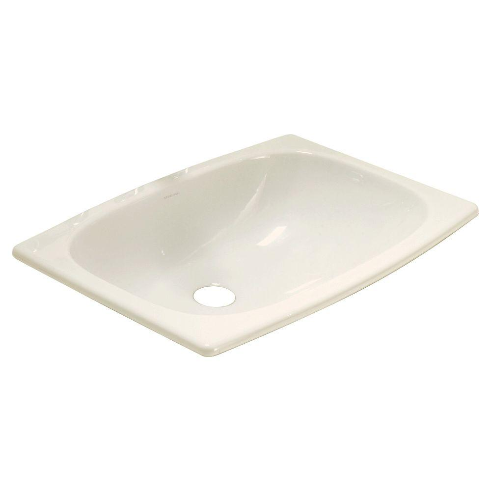 STERLING Stinson Drop-In Bathroom Sink in Biscuit-442007-96 - The Home ...