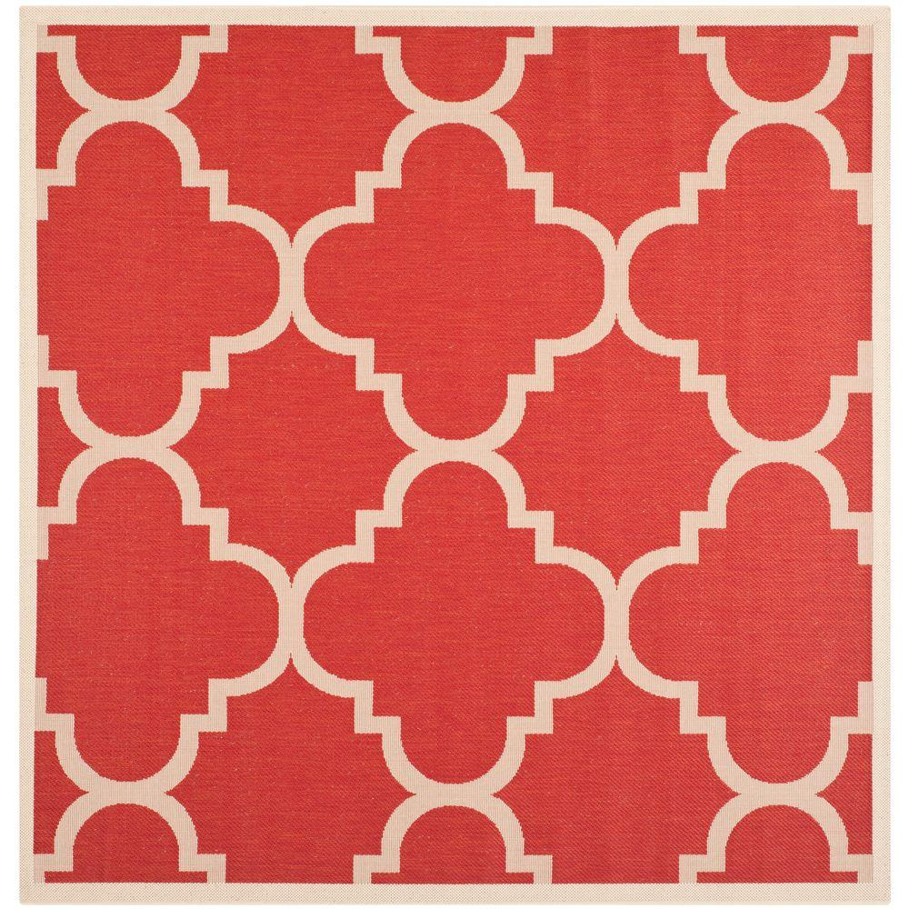 Courtyard Red 6 ft. 7 in. x 6 ft. 7 in.