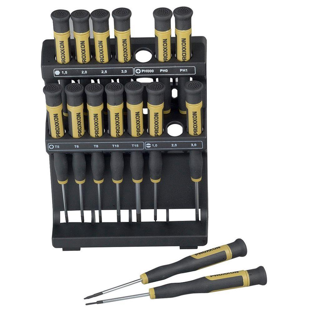 Micro Screwdrivers Set with Holder (15-Piece)
