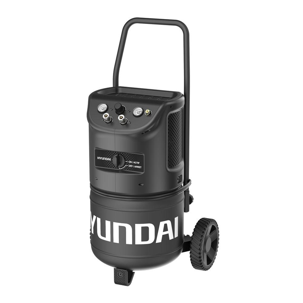 Hyundai 8 Gal. Ultra-Quiet Portable Electric Air Compressor-HHC8QCC - The Home