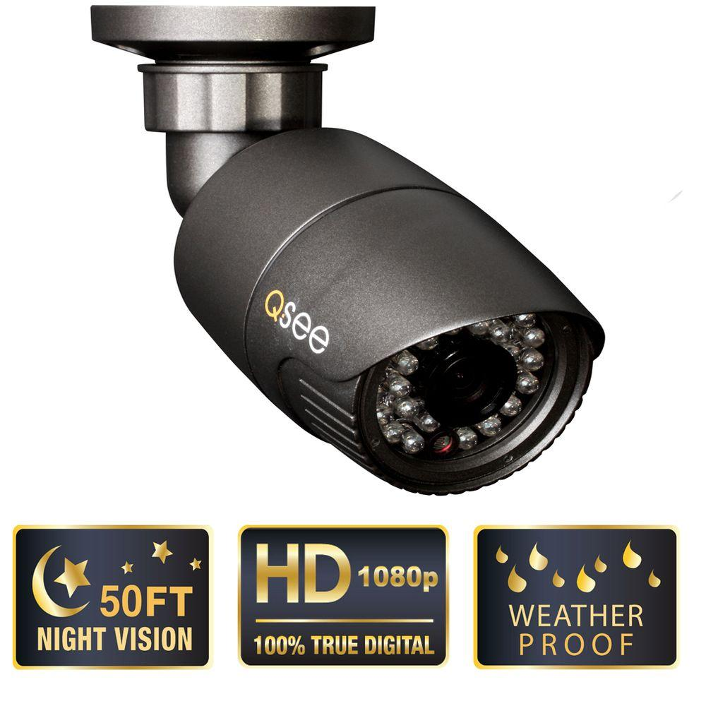 Q-SEE Platinum Series Indoor/Outdoor 1080p SDI High Resolution Bullet Security Camera with 50 ft. Night Vision