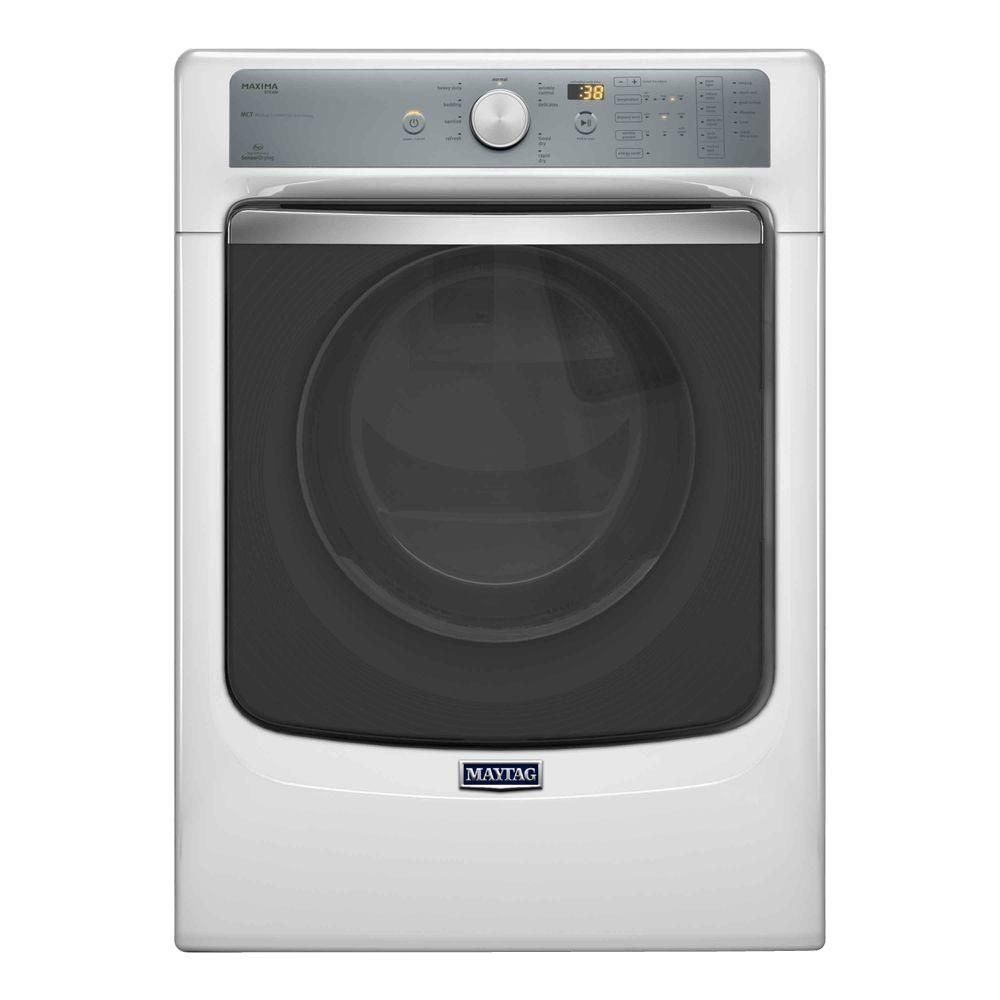 Maytag Maxima 7.3 cu. ft. Gas Dryer with Steam in White