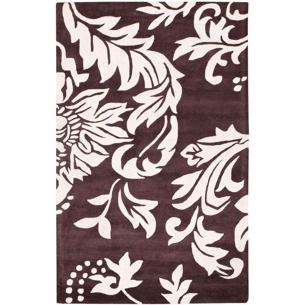 Safavieh Soho Brown/Ivory 3 ft. 6 in. x 5 ft. 6 in. Area Rug