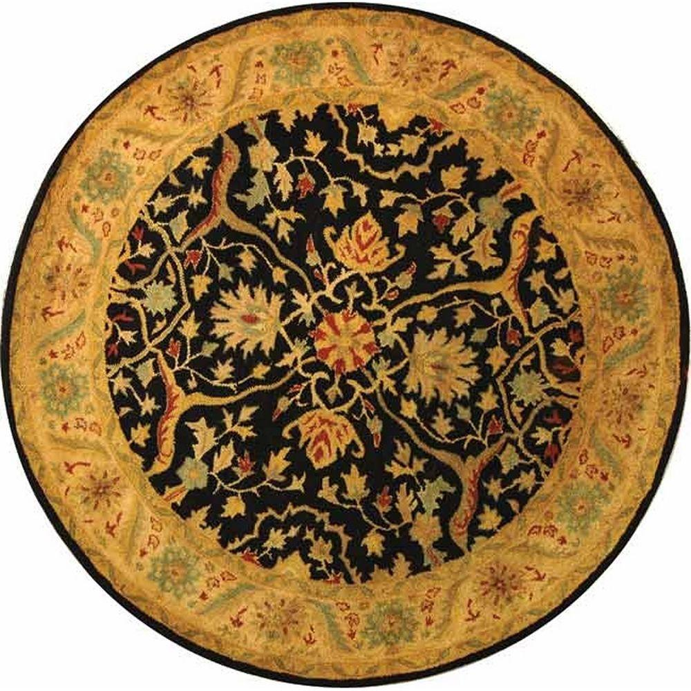Safavieh Antiquity Black 6 ft. x 6 ft. Round Area Rug-AT14B-6R
