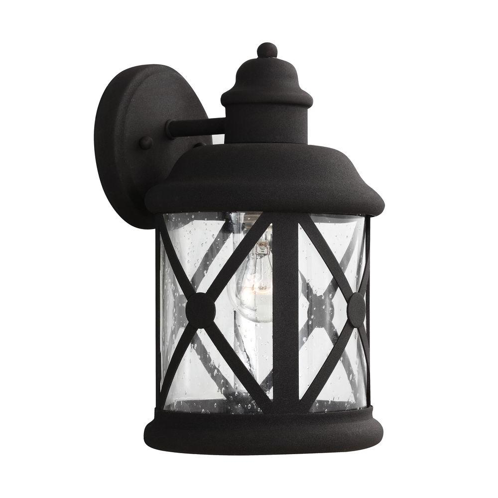 Lakeview 1-Light Black Outdoor Wall Fixture