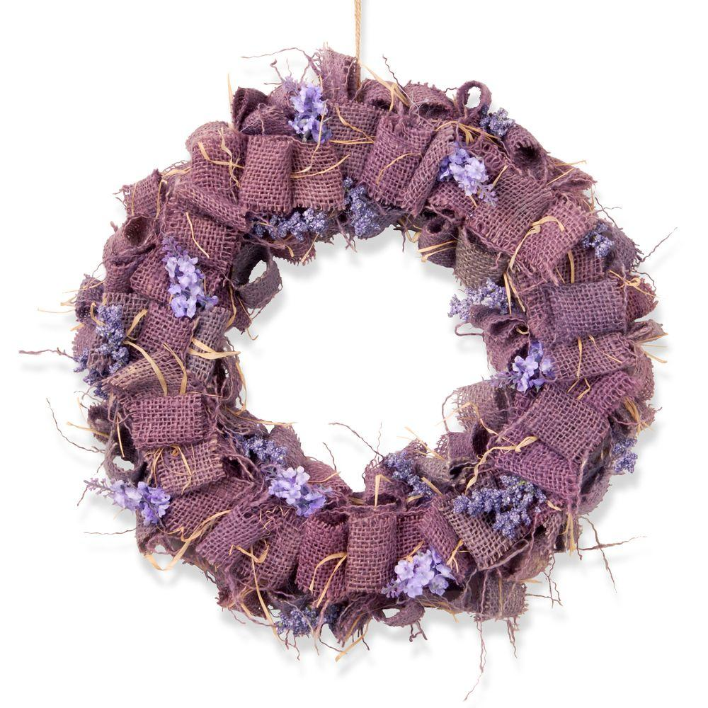 National Tree Company 16 in. Garden Accents Easter Wreath-GAE30-16WLPU-A - The