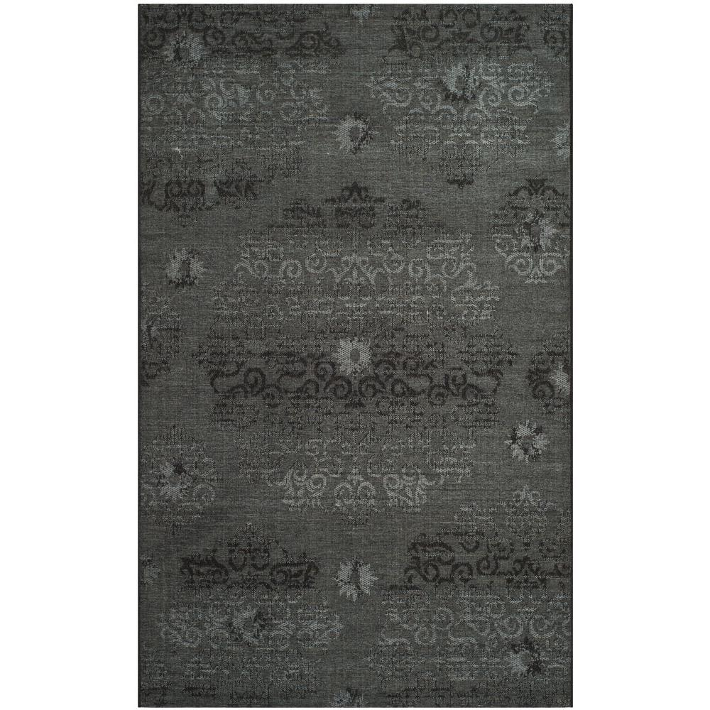 Palazzo Black/Grey 5 ft. x 8 ft. Area Rug