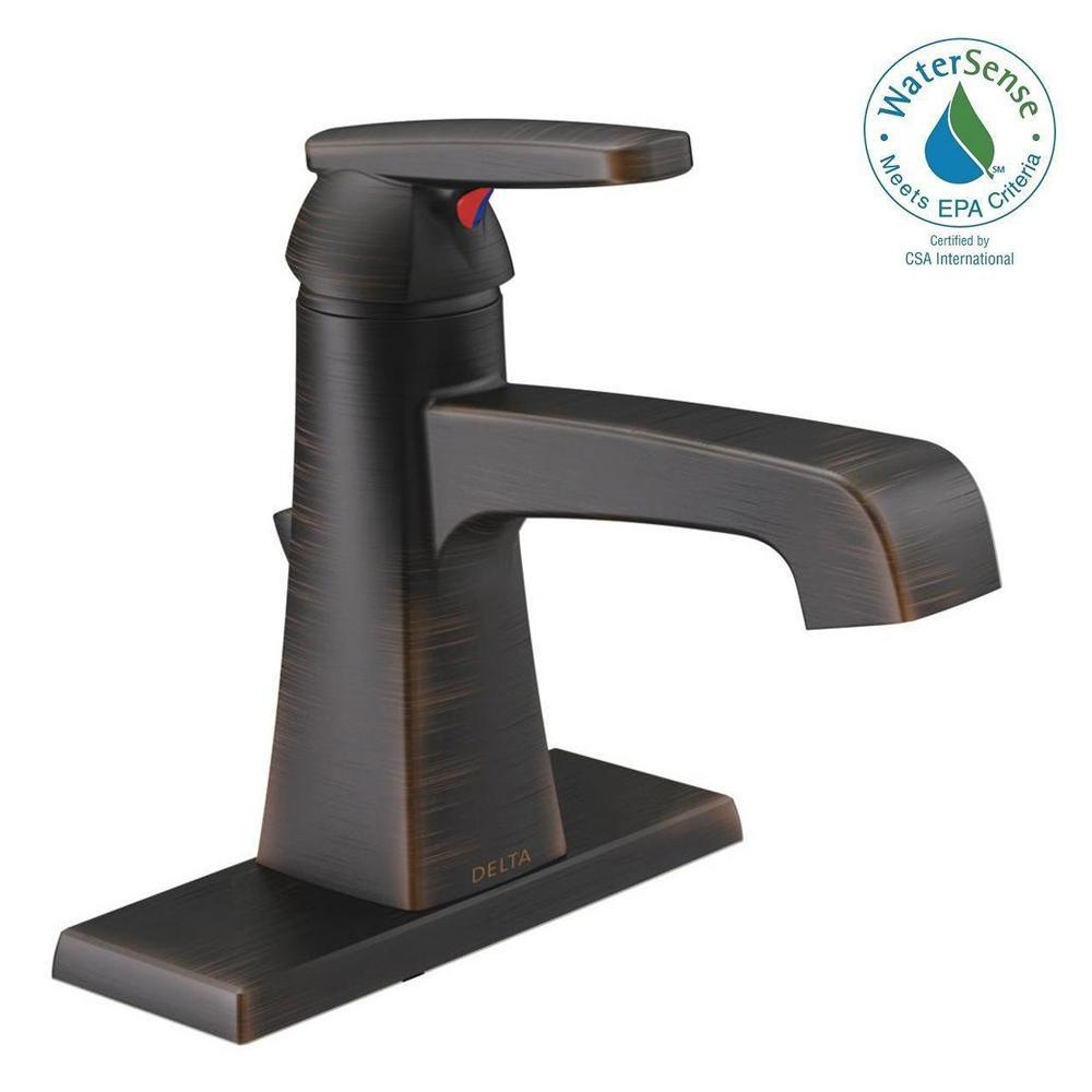 Ashlyn Single Hole Single-Handle Bathroom Faucet with Metal Drain Assembly in