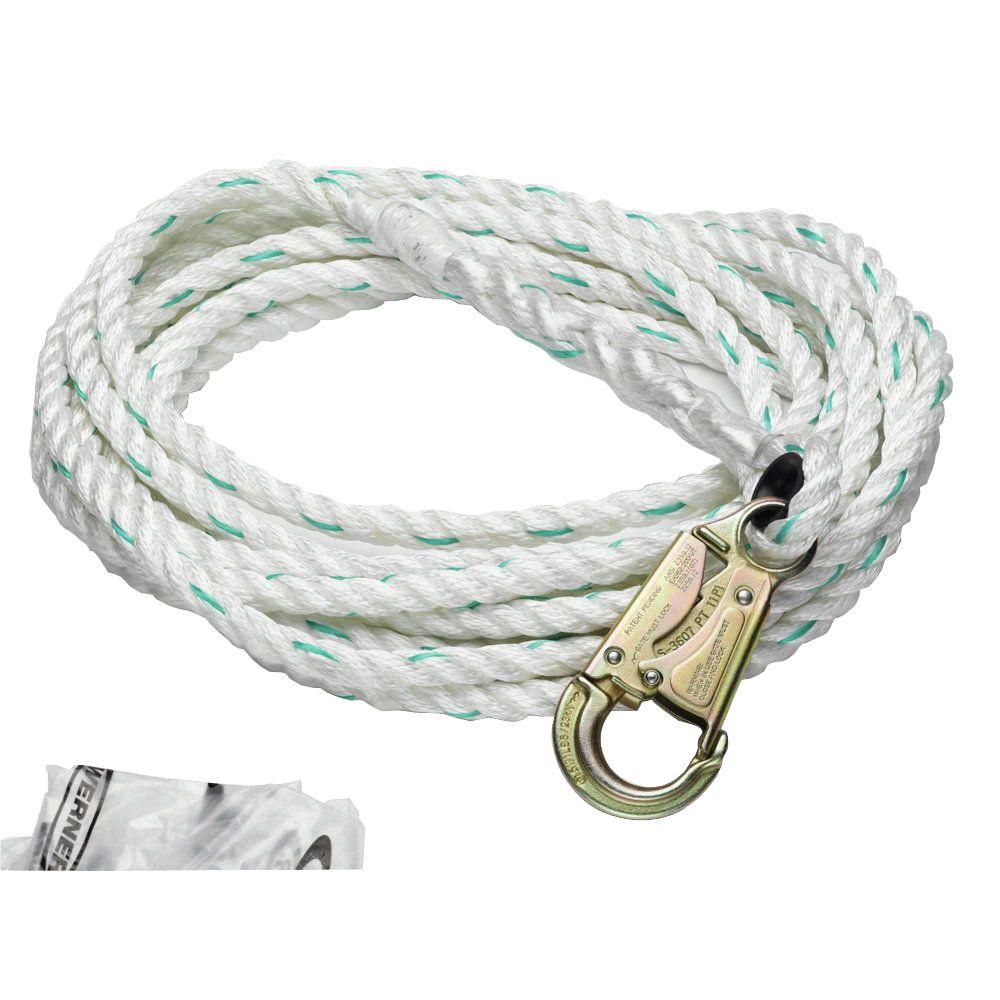 Werner Upgear 30 ft. 5/8 in. Poly-Dac Vertical Lifeline-L201030 - The